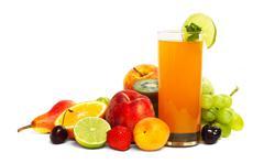 Multifruit juice Stock Photos
