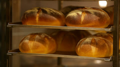 Bread was got from a stove Stock Footage