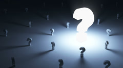 Abstract Animation of Question Marks Rotating with Light Effects Stock Footage