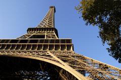 Eiffel tower of Paris - stock photo