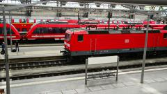 Railway station of Dresden, Germany Stock Footage