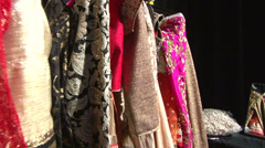 Back stage Indian Dresses Stock Footage