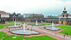 Dresden Zwinger - the famous historic building in the city in Germany Stock Footage