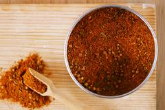Stock Photo of spices Chicken BBQ Rub mix of Herbs, shallow dof