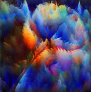 Stock Illustration of Digital Bloom Composition