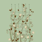 Floral decoration Stock Illustration