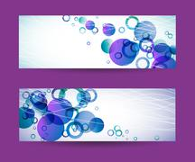 banners - stock illustration