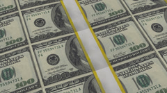 100 dollar bills stacks panning USD, 1080 +4k resolution Stock Footage