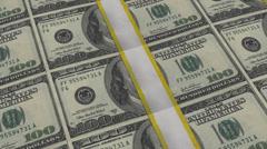 100 dollar bills stacks panning USD, 1080 +4k resolution Arkistovideo