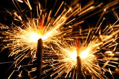 Celebration sparklers Stock Photos