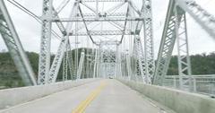 4K Driving Over Bridge POV 4267 Stock Footage