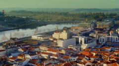 Coimbra High City Sight Stock Footage
