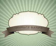Badge vector vintage design, retro background Stock Illustration