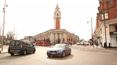 Brixton Town Hall Stock Footage