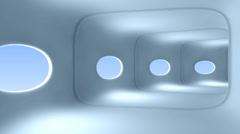Movement within a corridor of a spaceship, loopable Stock Footage