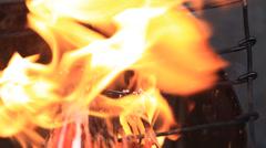 Burning candles in Catholic Church Basilica del Santo Nino. Cebu, Philippines Stock Footage