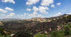 Hollywood Sign in Wide 4K Stock Footage
