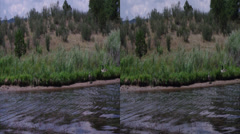 3d monument lake 4 Stock Footage