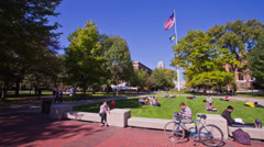 360 Degree Motion Time-lapse of the Diag at the University of Michigan Stock Footage