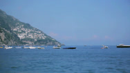 Stock Video Footage of Boats at the Amalfi Coast in Positano Italy - 25FPS PAL
