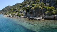 Stock Video Footage of The sink city Kekova, Antalya, Turkey