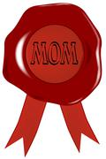 Mothers day wax stamp Stock Illustration