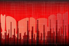 Blood city grunge Stock Illustration