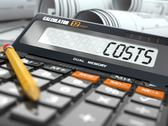 Stock Illustration of concept of costs calculation, calculator.