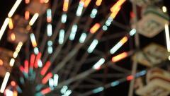 Ferris Wheel Spins & Focus Racks - stock footage