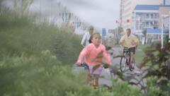 Virginia Beach Bike Path 1 Stock Footage