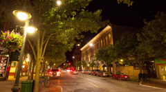Traverse City Downtown Street Time-lapse Stock Footage