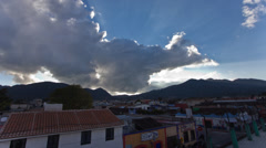 Sunset Time-lapse over San Cristobal, Chiapas, Mexico - stock footage