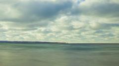 Lake Michigan Windblown Clouds Stock Footage