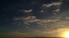 Sunset time-lapse Stock Footage