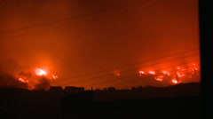 FIRE CITY BURNING, Disaster in Valparaiso Chile Stock Footage