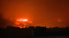 FIRE CITY BURNING, Disaster in Valparaiso Chile - stock footage