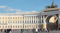 General Staff Building on Palace Square in Saint Petersburg, Russia Stock Footage