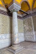 Hagia Sophia Column, Istanbul Stock Photos