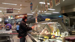 Hot Deli Food counter - stock footage