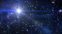 Bethlehem space star cross stay Discount week Stock Footage