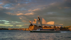 Operahouse Sunset Stock Footage