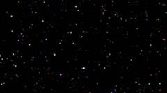 Twinkling rotating stars abstract background, colorful Stock Footage