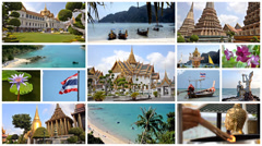 Thailand montage, art, culture, nature and wonderful sea Stock Footage