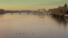 Coimbra By the River Stock Footage