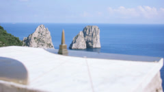 Capri Italy Miniature Obelisk Out of Focus - 25FPS PAL Stock Footage