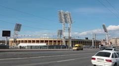 Fotball stadium Petrovsky, Saint-Petersburg, Russia Stock Footage