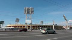 Petrovsky fotball stadium in Saint-Petersburg, Russia Stock Footage