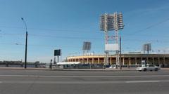 Petrovsky Stadium - sports complex, Saint-Petersburg, Russia Stock Footage