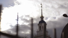 Late Afternoon Church Spire Time Lapse - stock footage
