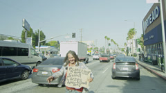 Homelessness in Los Angeles in 4K Stock Footage